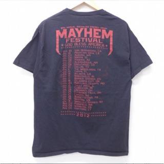 ヘインズ(Hanes)の古着半袖ロックバンドTシャツメイヘムフェスティバル女性20jul01(Tシャツ/カットソー(半袖/袖なし))