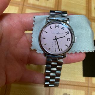 マークバイマークジェイコブス(MARC BY MARC JACOBS)の美品】37㎜ シルバー×ピンク 腕時計 マークバイマークジェイコブス(腕時計)