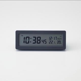 ムジルシリョウヒン(MUJI (無印良品))の新品★無印良品★デジタル電波時計 置時計 ブラック☆★★◆⌘*¢(置時計)