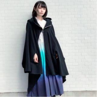 ヨウジヤマモト(Yohji Yamamoto)のhazama なびくパーカー 黒(パーカー)