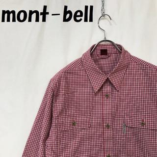 モンベル(mont bell)の【人気】モンベル WIC.ライトロングスリーブシャツ チェック柄 L レディース(シャツ/ブラウス(長袖/七分))