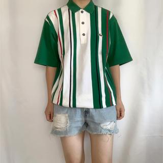 ラコステ(LACOSTE)のLACOSTE ストライプポロシャツ(ポロシャツ)