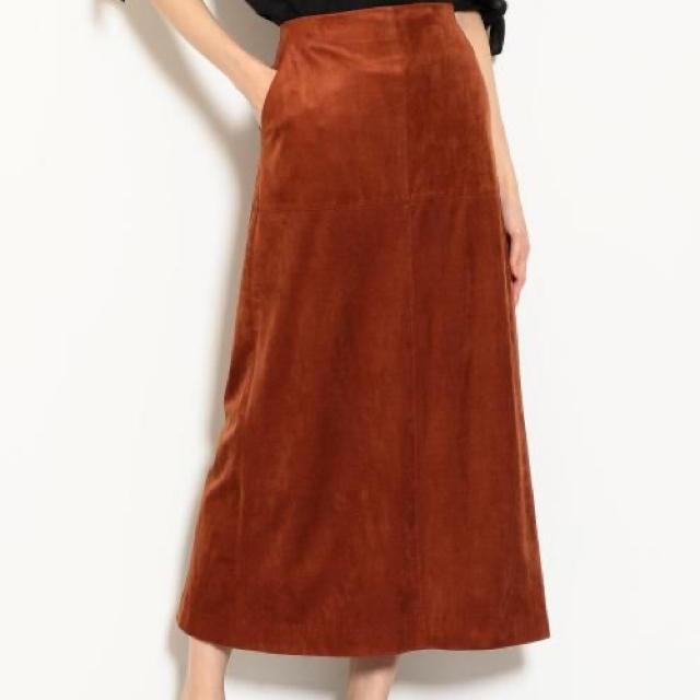 green label relaxing(グリーンレーベルリラクシング)の美品★美ラインFM スウェードライク ロング タイトスカート レディースのスカート(ロングスカート)の商品写真