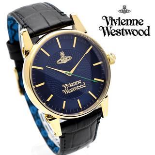 ヴィヴィアンウエストウッド(Vivienne Westwood)のヴィヴィアン ウエストウッド 腕時計 メンズ フィンズバリー ネイビー ブラック(腕時計(アナログ))