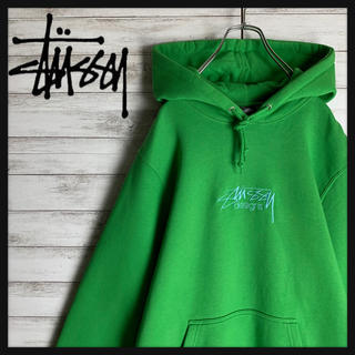 STUSSY - 【売り切れ続出】ステューシー☆ワンポイント刺繍ロゴ入りパーカー 希少カラー 美品