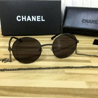 CHANEL - シャネル サングラス ブラックフレーム チェーン2186