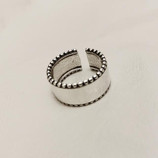 エンフォルド(ENFOLD)のWide smokesilver grain ring No.252(リング(指輪))