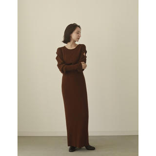 IENA - louren shoulder cut knit onepiece  完売商品