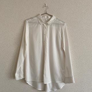 イオン(AEON)のイオン 新品未使用 白シャツ(シャツ/ブラウス(長袖/七分))