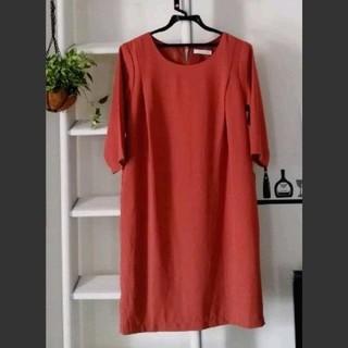 ショコラフィネローブ(chocol raffine robe)のショコラフィネローブ 秋色ワンピース テラコッタ くすみオレンジ(ひざ丈ワンピース)