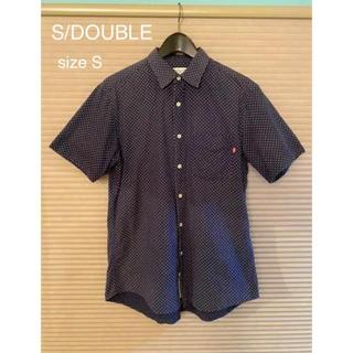S/DOUBLE  半袖シャツ メンズ ドットシャツ S