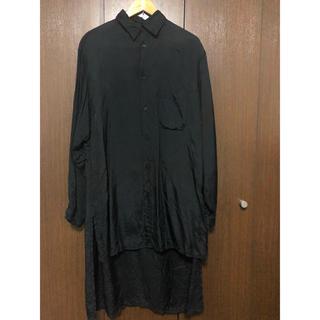 ヨウジヤマモト(Yohji Yamamoto)のyohji yamamoto キュプラ後ろロングシャツ  y's(シャツ)