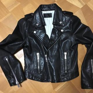 ムルーア(MURUA)のムルーア ライダースジャケット ラムレザー サイズ1(S)(ライダースジャケット)