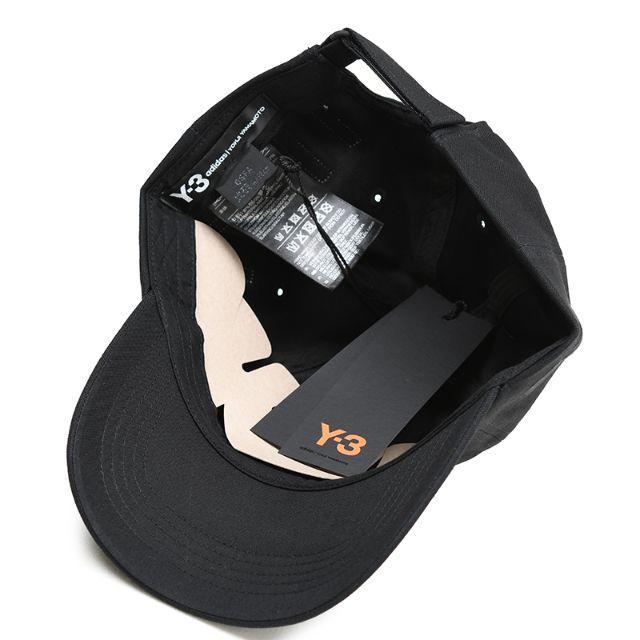 Y-3(ワイスリー)のY-3 ヨウジ ヤマモト ブラックキャップ YOHJI CAP FH9271 メンズの帽子(キャップ)の商品写真