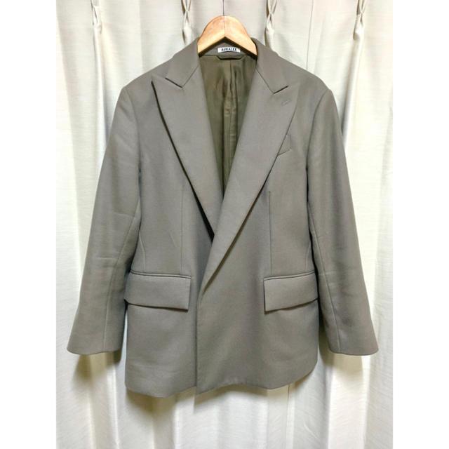 COMOLI(コモリ)のAURALEE ライトメルトンダブルブレステッドジャケット メンズのジャケット/アウター(テーラードジャケット)の商品写真