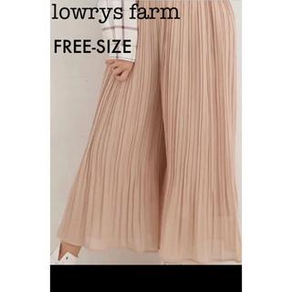 LOWRYS FARM - 美品 lowrys farm   プリーツワイドパンツ フリーサイズ