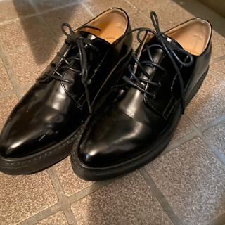 ジーナシス(JEANASIS)のジーナシス レースアップシューズ Lサイズ 黒(ローファー/革靴)