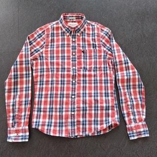 アバクロンビーアンドフィッチ(Abercrombie&Fitch)のアバクロンビー&フィッチ チェックシャツ 赤系 Mサイズ 綿100%(シャツ)