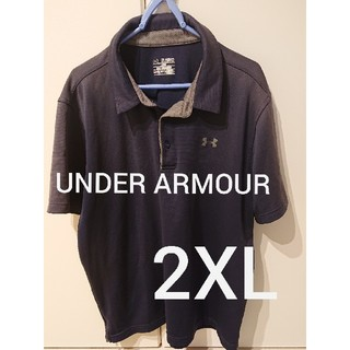 アンダーアーマー(UNDER ARMOUR)のUNDER ARMOUR ポロシャツ メンズ2XL 紺色(ポロシャツ)