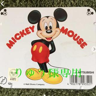 ミツビシエンピツ(三菱鉛筆)のミッキーマウス 色鉛筆 12色(色鉛筆)
