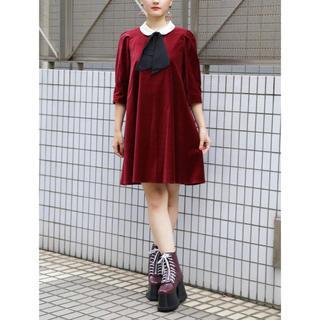 PAMEO POSE - PAMEO POSE Velvet A-Line Dress ワンピース