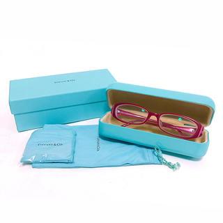 ティファニー(Tiffany & Co.)のティファニー 眼鏡 度入り ピンク ハート(サングラス/メガネ)