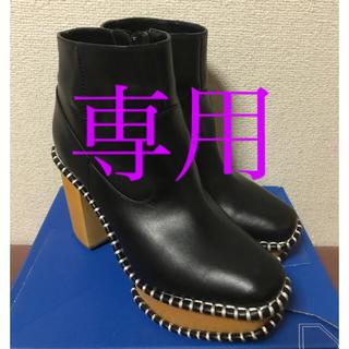 マウジー(moussy)のmoussy ウッドソールブーツ Mサイズ(ブーツ)