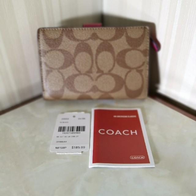 COACH(コーチ)のコーチ二つ折り財布レディース折り財布 レディースのファッション小物(財布)の商品写真
