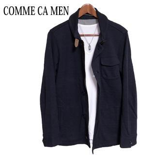 コムサメン(COMME CA MEN)のCOMME CA MEN カバーオール  ラウンドカラージャケット ブルゾン紺色(その他)
