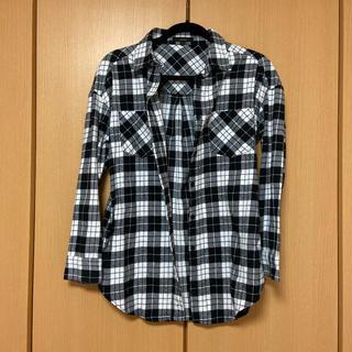 リエンダ(rienda)の白黒 チェックシャツ(シャツ/ブラウス(長袖/七分))
