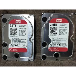 Western Digital (RED)HDD 3TB WD30EFRX 2個(PCパーツ)