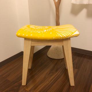 マリメッコ(marimekko)のスツール マリメッコ 木製 ウッド ナチュラル モモナチュラル イエロー 北欧(ダイニングチェア)