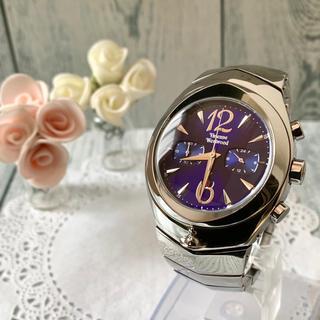 ヴィヴィアンウエストウッド(Vivienne Westwood)の【動作OK】vivienne 腕時計 アーマークロノグラフ ネイビー シルバー(腕時計(アナログ))