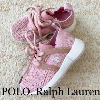 POLO RALPH LAUREN - 未使用に近い ポロ ラルフローレン キッズ スニーカー 12cm ピンク