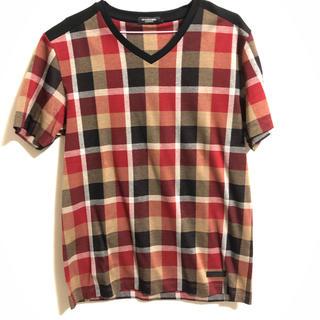 ブラックレーベルクレストブリッジ(BLACK LABEL CRESTBRIDGE)の人気柄 VネックTシャツ クレストブリッジ ブラックレーベル(Tシャツ/カットソー(七分/長袖))