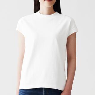 ムジルシリョウヒン(MUJI (無印良品))の無印良品 太番手天竺編みフレンチスリーブTシャツ 婦人XL・白(Tシャツ(半袖/袖なし))