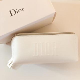 ディオール(Dior)のDior ディオールポーチ スクエア ホワイト(ポーチ)
