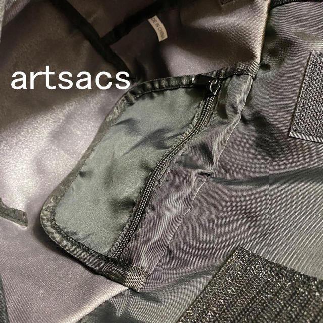 送料無料♥artsacsシンプル軽量メッセンジャーバッググレー税込定価5390円 メンズのバッグ(メッセンジャーバッグ)の商品写真
