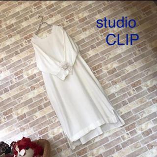 スタディオクリップ(STUDIO CLIP)のstudio CLIP アイボリー襟袖レースワンピース(ロングワンピース/マキシワンピース)