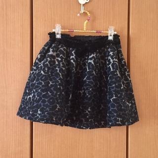 イーハイフンワールドギャラリー(E hyphen world gallery)の新品 レオパード柄スカート(ミニスカート)