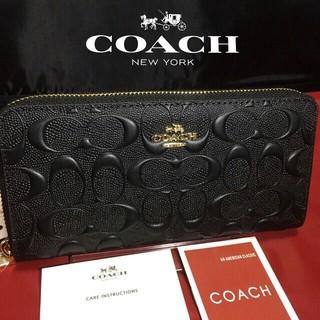 COACH - プレゼントにも  新品コーチ  美しい光沢長財布 53834
