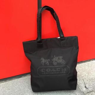 コーチ(COACH)の新品未使用 コーチ エコバッグ 買い物袋 トートバッグ 黒(エコバッグ)