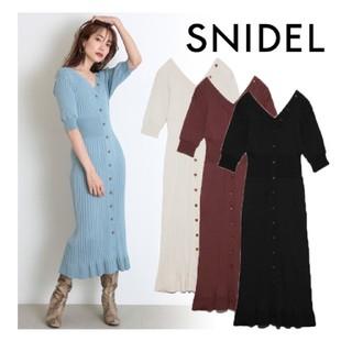 snidel - 新品 スナイデル フロントボタン ニットワンピース 今期 新作 人気