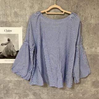 ショコラフィネローブ(chocol raffine robe)のストライプ ブラウス(シャツ/ブラウス(長袖/七分))