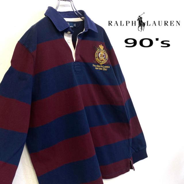 POLO RALPH LAUREN(ポロラルフローレン)の美品 90's Ralph Lauren ラガーシャツ メンズXL  メンズのトップス(ポロシャツ)の商品写真