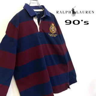 POLO RALPH LAUREN - 美品 90's Ralph Lauren ラガーシャツ メンズXL