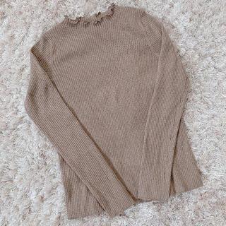 リリーブラウン(Lily Brown)の本日限定 shiny brown tops(カットソー(長袖/七分))