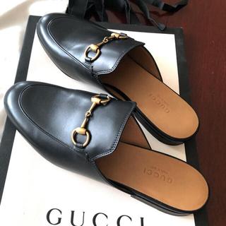 Gucci - グッチ スリッポン 黒 36 23センチ ローファー 靴