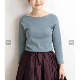 IENA - 今季 オーラリー イエナ別注ボートネックTシャツ ブルー