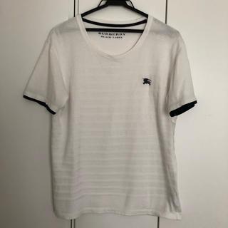 バーバリーブラックレーベル(BURBERRY BLACK LABEL)の【中古】バーバリー  BURBERRY  Tシャツ 白 メンズM(Tシャツ/カットソー(半袖/袖なし))